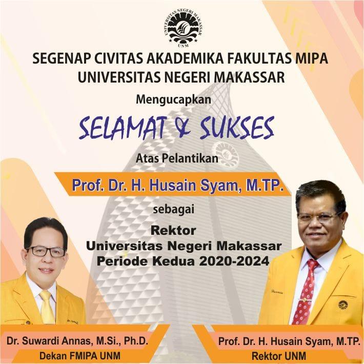Ucapan Selamat Pelantikan Rektor Dari Civitas Akademika Unm Dan Kolega Universitas Negeri Makassar